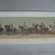Coleccionismo: LÁMINA HISTÓRICA DE PALAFRENERO DEL CABALLERIZO, CORREO DE ORDEN, CABALLERIZO DE CAMPO Y PALAFRENERO. Lote 41519299