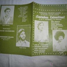 Coleccionismo: PRODUCCIONES PALACIO PRESENTA LA COMEDIA MUSICAL ¡CASTAÑAS CALENTITAS! 1977. Lote 41559787