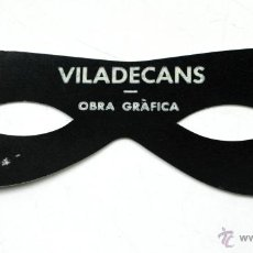 Coleccionismo: JOAN PERE VILADECANS, ANTIFAZ NEGRO, AÑO 1975. GALERIA CIENTO, BARCELONA. 5,5X15,5 CM.. Lote 41586466