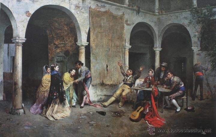 Coleccionismo: LÁMINA: DESPUES DE LA CORRIDA, DE DENIS BELGRANO – MUSEO BELLAS ARTES DE MÁLAGA - Foto 1 - 41636070