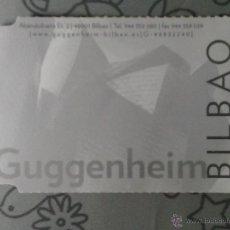 Coleccionismo: ENTRADA GUGGENHEIM BILBAO. Lote 55792225