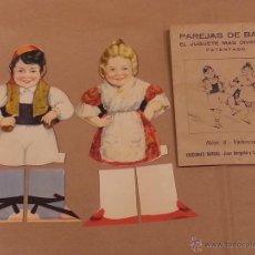 Coleccionismo: PAREJAS DE BAILE , NÚM .6 - VALENCIANOS .. Lote 41782768