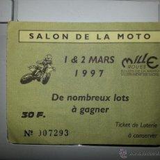 Coleccionismo: ENTRADA SALON DE LA MOTO - MILLE ROUES - 1997 FRANCIA. Lote 41792876