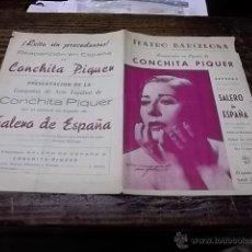 Coleccionismo: 3172.- CONCHITA PIQUER-PROGRAMA TEATRO BARCELONA. Lote 41990641
