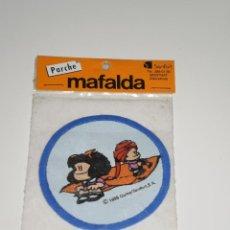 Coleccionismo: PARCHE DE TELA MAFALDA , QUINO/SENFOR,S.A-BARCELONA . DEL AÑO 1986 . NUEVA EN SU BLISTER ORIGINAL .. Lote 42034723