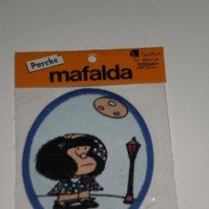 Coleccionismo: PARCHE DE TELA MAFALDA , QUINO/SENFOR,S.A-BARCELONA . DEL AÑO 1986 . NUEVA EN SU BLISTER ORIGINAL .. Lote 42034750