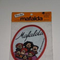 Coleccionismo: PARCHE DE TELA MAFALDA , QUINO/SENFOR,S.A-BARCELONA . DEL AÑO 1986 . NUEVA EN SU BLISTER ORIGINAL .. Lote 42034780