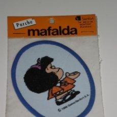 Coleccionismo: PARCHE DE TELA MAFALDA , QUINO/SENFOR,S.A-BARCELONA . DEL AÑO 1986 . NUEVA EN SU BLISTER ORIGINAL .. Lote 42034789