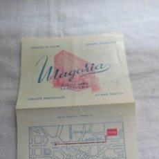 Coleccionismo: TARJETA PUBLICITARIA HOTEL MARGARIA BARCELONA . Lote 42107645