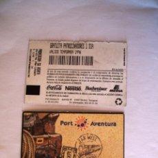 Collectionnisme: ENTRADA AL PARQUE TEMATICO PORT AVENTURA, GRATUITA PATROCINADORES 1 DIA. AÑO 1996. Lote 176974815