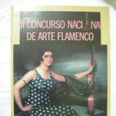 Coleccionismo: PROGRAMA XII CONCURSO NACIONAL DE ARTE FLAMENCO, CORDOBA, MAYO 1989, PASTORA IMPERIO, DE J.R. TORRES. Lote 42287949