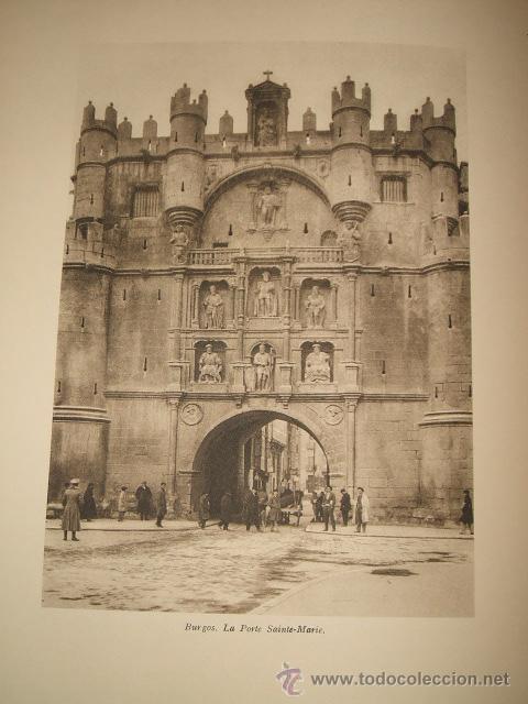 BURGOS ARCO DE SANTA MARIA ANTIGUO HUECOGRABADO FRANCES AÑOS 20 (Coleccionismo - Laminas, Programas y Otros Documentos)