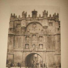 Coleccionismo: BURGOS ARCO DE SANTA MARIA ANTIGUO HUECOGRABADO FRANCES AÑOS 20. Lote 42377085