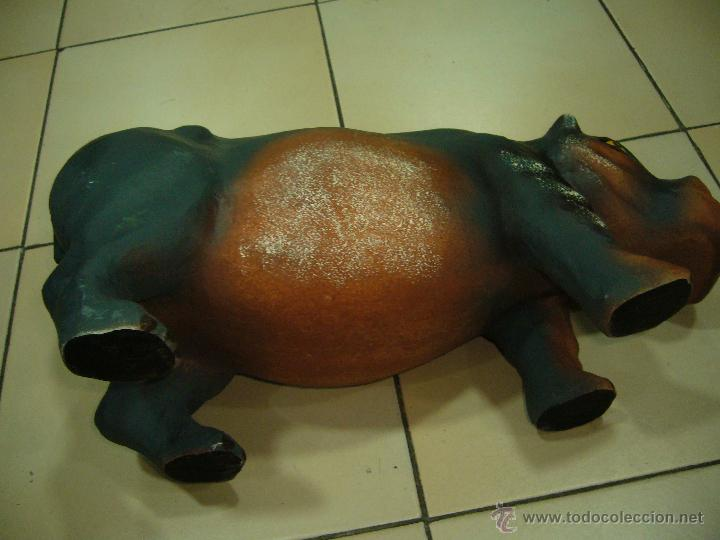 Coleccionismo: hipopotamo papel mache - Foto 8 - 42386038
