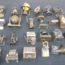 Coleccionismo: COLECCION ANTIGUOS SACAPUNTAS EN MINIATURA DE CALAMINA - 23 DISTINTOS. Lote 42641019