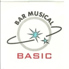 Coleccionismo: TARJETA COMERCIAL BAR MUSICAL BASIC, SABADELL. Lote 42819834