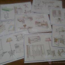 Antiguas laminas muebles auxiliares nicasio san comprar documentos antiguos en todocoleccion Muebles antiguos malaga