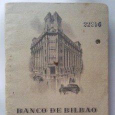 Coleccionismo: ANTIGUA LIBRETA DE AHORRO, BANCO DE BILBAO VALENCIA 1953. Lote 43190014
