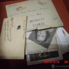 Coleccionismo: LOTE CARTAS FOTOS POSTALES ALICANTE ANTIGUOS. Lote 43205141