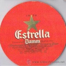 Coleccionismo: ANTIGUO POSAVASOS ESTRELLA DAMM CERVEZA. Lote 43365126