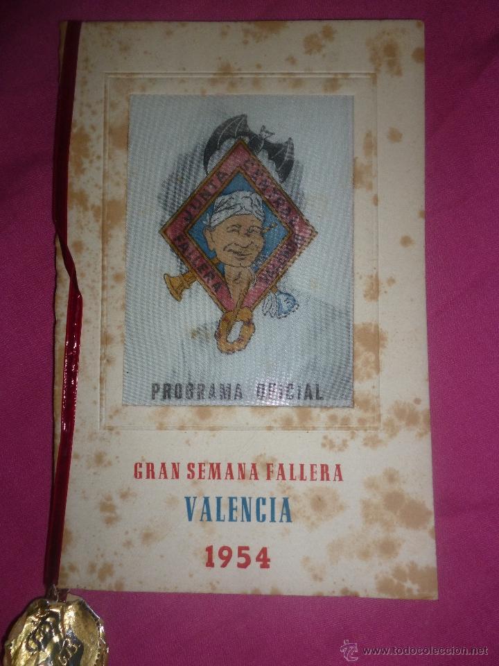 FALLAS DE VALENCIA. PROGRAMA OFICIAL DE 1954. JUNTA CENTRAL FALLERA (Coleccionismo - Laminas, Programas y Otros Documentos)