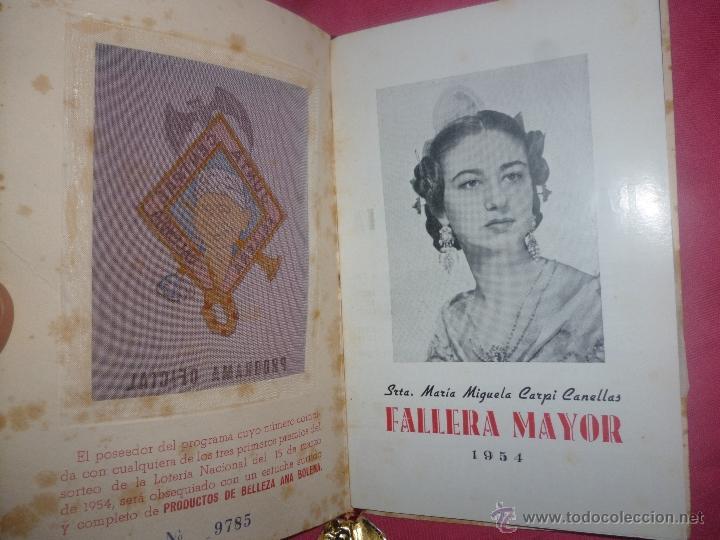 Coleccionismo: Fallas de Valencia. Programa Oficial de 1954. Junta Central Fallera - Foto 2 - 43428146