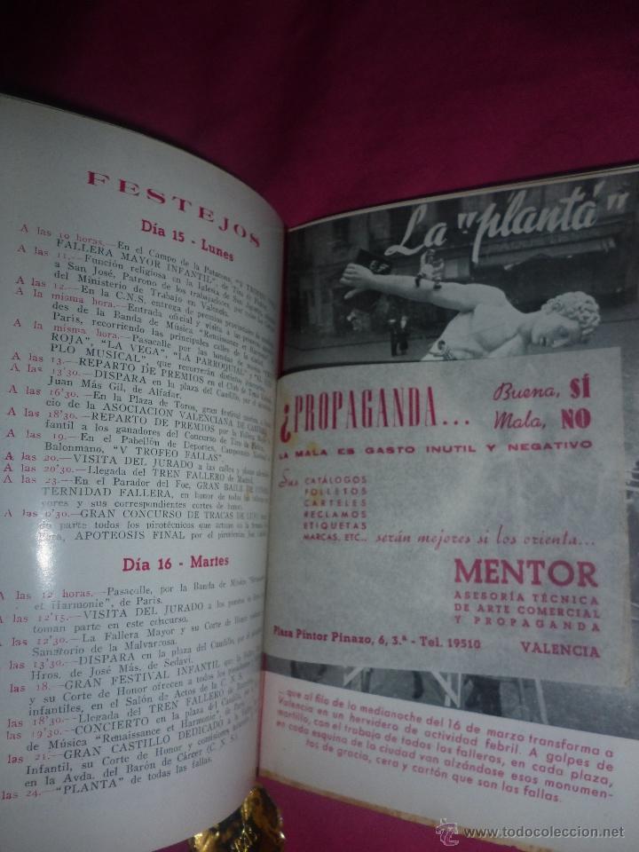 Coleccionismo: Fallas de Valencia. Programa Oficial de 1954. Junta Central Fallera - Foto 3 - 43428146