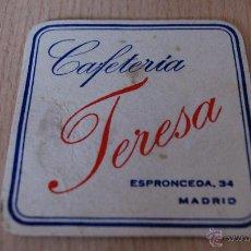 Coleccionismo: POSAVASOS ANTIGUO AÑOS 60 CAFETERÍA TERESA. Lote 43529801