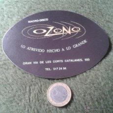 Coleccionismo: ESCASO Y BONITO POSAVASOS AÑOS 80 MACRO DISCO DISCOTECA OZONO GRAN VIA DE LES CORTS CATALANES . Lote 43563189