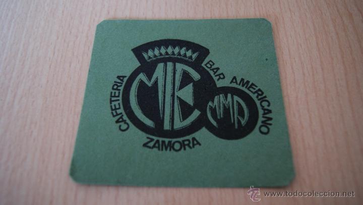 Coleccionismo: Posavasos antiguo años 60 MIE Bar Americano Zamora - Foto 3 - 43529816