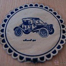Coleccionismo: POSAVASOS ANTIGUO AÑOS 60 COCHE MAXWELL. Lote 43566907