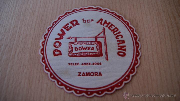 POSAVASOS ANTIGUO AÑOS 60 DOWER BAR AMERICANO DE ZAMORA (Coleccionismo - Varios)