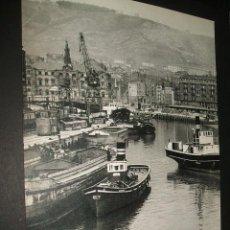 Coleccionismo: BILBAO VIZCAYA ANTIGUA LAMINA HUECOGRABADO AÑOS 50. Lote 43652534