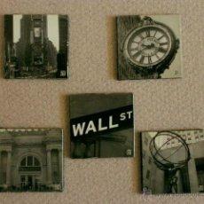 Coleccionismo: IMANES NEVERA - RECUERDO NUEVA YORK - 5 PIEZAS CUADRADAS CON FOTOS DE NEW YORK -. Lote 43698224