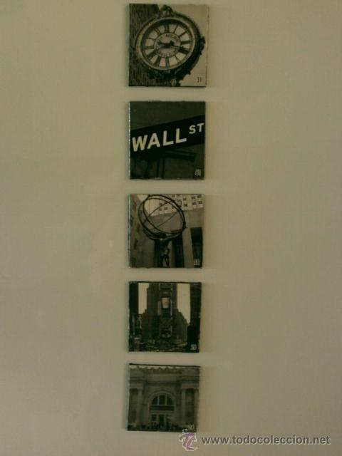 Coleccionismo: IMANES NEVERA - Recuerdo Nueva York - 5 piezas cuadradas con fotos de New York - - Foto 2 - 43698224