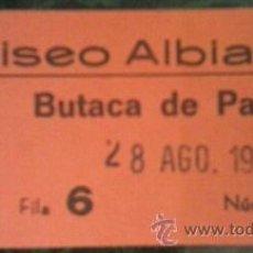 Coleccionismo: ENTRADA COLISEO ALBIA DE BILBAO. Lote 43820125