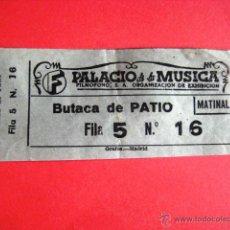 Collectionnisme: ENTRADA CINE PALACIO DE LA MUSICA.( MATINAL ) MADRID. AÑOS 60. .. Lote 43962871