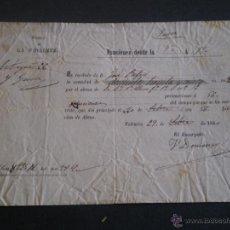 Coleccionismo: ENTRADA BONO TEATRO PRINCESA. VALENCIA 1860. Lote 43968939