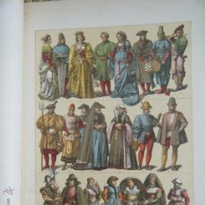 Coleccionismo: PRINCIPIO DE LA EDAD MODERNA- TRAJES DE LOS PAISES BAJOS ( 1480-1580 ). G.ONCKEN.. Lote 44065779