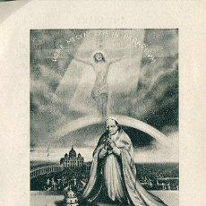 Coleccionismo: ANTIGUA ESTAMPA, HODIE MECUM ERIS IN PARADISUM,ANY SANT, AMB LLICENCIA. Lote 44157621