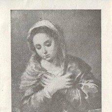 Coleccionismo: ANTIGUA ESTAMPA RECORDATORIO, DEL CUMPLIMIENTO PASCUAL AÑO 1956. Lote 44157951
