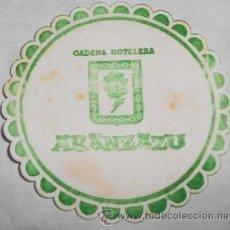 Coleccionismo: POSAVASOS DE CADENA HOTELERA ARANZAZU. Lote 44212978
