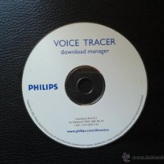 Coleccionismo: CD VOICE TRACER DOWNLOAD MANAGER PHILIPS GRABADORA VOZ AUDIO. Lote 44244574
