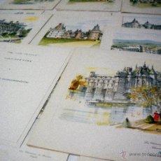 Coleccionismo: L-1344 LOTE MENUS COMPAÑIA AEREA AIR FRANCE- CASTILLOS DE FRANCIA AÑOS 60 DIB. PIERRE PAGES -15 MENU. Lote 44340658
