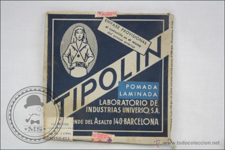 Coleccionismo: Antiguo Medicamento Pomada Laminada Tipolín. Envase Provisional - Medidas 12 x 12 Cm - Foto 3 - 109771360