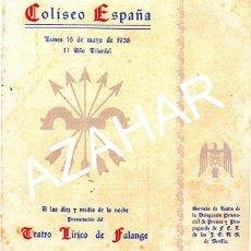 Coleccionismo: SEVILLA,1938,COLISEO ESPAÑA,TEATRO LIRICO FALANGE,CONCHA PIQUER,ESTRELLITA CASTRO,MIGUEL LIGERO. Lote 44659599