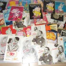Coleccionismo: LOTE DE 58 TARJETAS DE FELICITACIÓN DE CUMPLEAÑOS ·· DIPTICOS ·· BUEN ESTADO. Lote 44690561