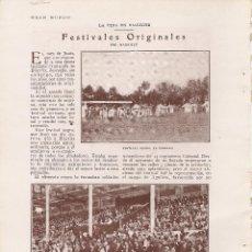 Coleccionismo: RECORTE DE PRENSA, FESTIVALES ORIGINALES EN BIARRITZ, AÑOS 20. Lote 44770971