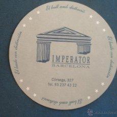 Coleccionismo: POSAVASO . SALA DE FIESTAS IMPERATOR .. Lote 44795986