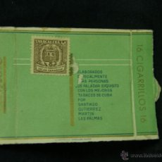 Coleccionismo: MITAD MEDIA CAJA DE CIGARRILLOS 16 CUMBRE SELLO TABACALERA SA ISLAS CANARIAS. Lote 44855806